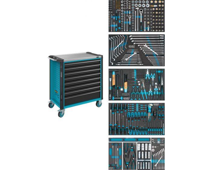 Servante-d'atelier-avec-5-tiroirs-remplis-Assortiment-321-pièces